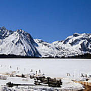 Beautiful Sawtooth Mountains Poster by Robert Bales