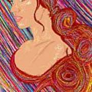 Beauty Of Hair Abstract Poster by Kenal Louis