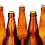 Beer Bottles Poster by Jim Hughes