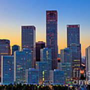 Beijing Central Business District Poster by Fototrav Print