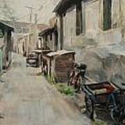 Beijing Hutong Poster by Annie Salness