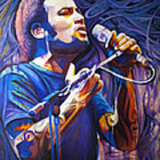 Ben Harper And Mic Poster by Joshua Morton