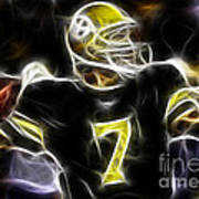 Ben Roethlisberger  - Pittsburg Steelers Poster by Paul Ward