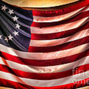 Betsy Ross Flag Poster by Olivier Le Queinec