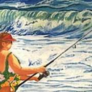 Big Momma Fishin' Poster by Frank Giordano