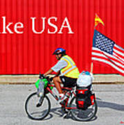 Bike Usa Poster by Lorna Rogers Photography