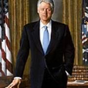 Bill Clinton Portrait Poster by Tilen Hrovatic