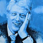 Bill Clinton Poster by Victor Minca