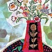 Bird Blossom Vase Poster by Diane Fine