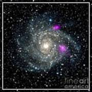 Black Holes In Spiral Galaxy Nasa Poster by Rose Santuci-Sofranko