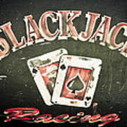 Black Jack Racing Poster by Phil 'motography' Clark