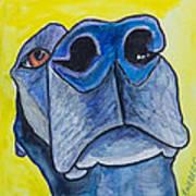Black Lab Nose Poster by Roger Wedegis