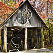 Blacksmith Shop Poster by Susan Leggett