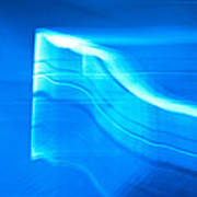 Blue Abstract 3 Poster by Mark Weaver