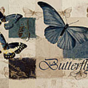 Blue Butterfly - J118118115-01a Poster by Variance Collections