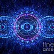 Blue Circle Fractal Poster by Martin Capek