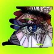 Blue Eye Poster by HollyWood Creation By linda zanini