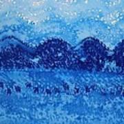 Blue Ridge Original Painting Poster by Sol Luckman