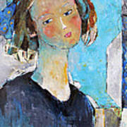 Blue Sonata Poster by Becky Kim