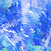 Blue Twirl Abstract Poster by Ann Powell