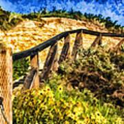 Boardwalk Steps Poster by Anthony Citro