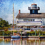 Boat - Tuckerton Seaport - Tuckerton Lighthouse Poster by Mike Savad