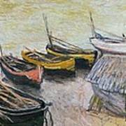 Boats On The Beach Poster by Claude Monet