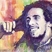 Bob Marley 02 Poster by Yuriy  Shevchuk