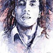 Bob Marley 3 Poster by Yuriy  Shevchuk