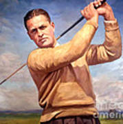 bobby Jones Poster by Tim Gilliland