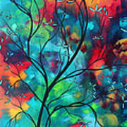 Bold Rich Colorful Landscape Painting Original Art Colored Inspiration By Madart Poster by Megan Duncanson