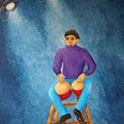 Bongo Man Poster by Pamela Allegretto