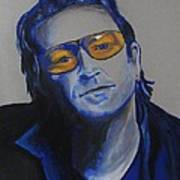 Bono U2 Poster by Eric Dee