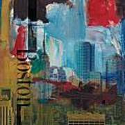 Boston City Collage 3 Poster by Corporate Art Task Force