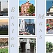 Boston Collage Poster by Barbara McDevitt