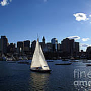 Boston Harbor Poster by Olivier Le Queinec