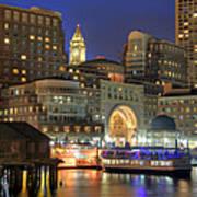 Boston Harbor Party Poster by Joann Vitali