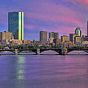 Boston Pastel Sunset Poster by Joann Vitali