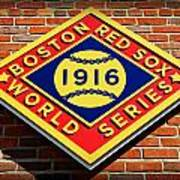 Boston Red Sox 1916 World Champions Poster by Stephen Stookey