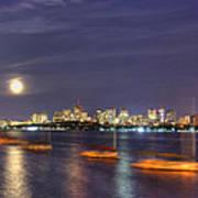 Boston Skyline From Memorial Drive Poster by Joann Vitali