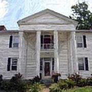 Bottom-mcafee-guthrie House - Perryville Ky Poster by Thia Stover
