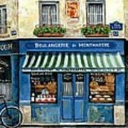 Boulangerie De Montmartre Poster by Marilyn Dunlap