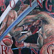 Boxing Ring Poster by Kate Fortin