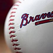 Braves Baseball Poster by Ricky Barnard