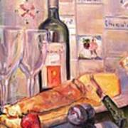 Bread And Wine Poster by Dorothy Siclare