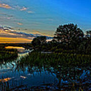 Break Of Dawn Over Low Country Marsh Poster by Savlen Art