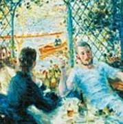 Breakfast By The River Poster by Pierre-Auguste Renoir