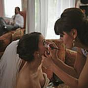 Bride Eyeliner Poster by Mike Hope