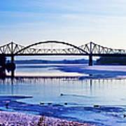 Bridges Over The Mississippi Poster by Christi Kraft