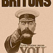 Britons Your Country Needs You  Poster by War Is Hell Store